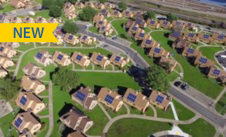 Aerial photograph of the 98 homes that got solar in Richmond.
